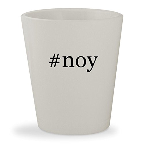 #noy - White Hashtag Ceramic 1.5oz Shot Glass