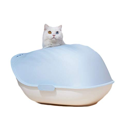 Extra Large Cat Litter Box – Plastic Kitty Litter Box with Low Front for Easy Entry – for Large or Multiple Cats – Easy…
