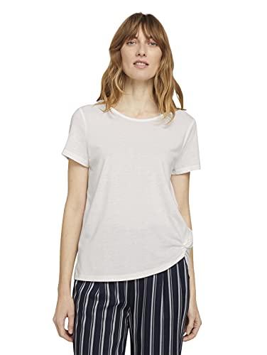 TOM TAILOR Damen 1025267 Basic T-Shirt, 10315-Whisper White, 3XL