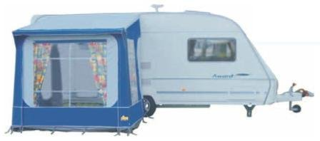 Tuscany Porch Caravan Awning Blue Pyramid Quick Up Amazoncouk Garden Outdoors