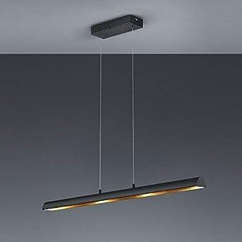 Dimmable Led Luminaire Suspendu Metal Noir Or Lampe De Poche