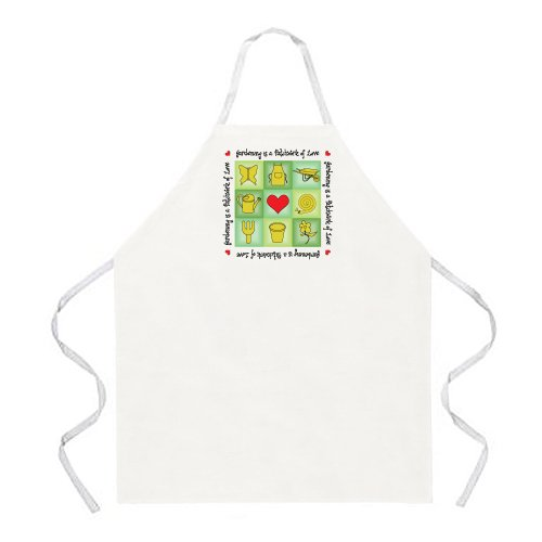 Attitude Apron Gardening Patchwork Apron, Natural, One Size Fits Most by Attitude Aprons
