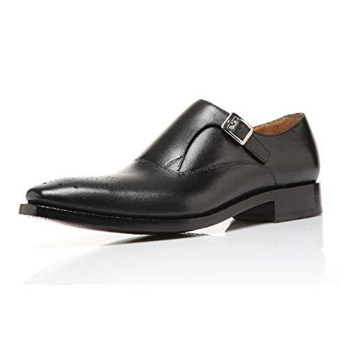 Scarpe in Pelle da Uomo High-End Personalizzate Fatte A Mano Testa Rotonda Elegante E Comoda Black