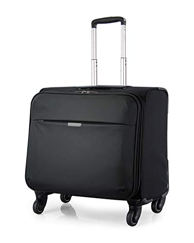 Large Wheeled Duffel 29 (Hanke Carry-On Luggage Suitcase Rolling Spinner Travel Luggage for Men Women,Black)