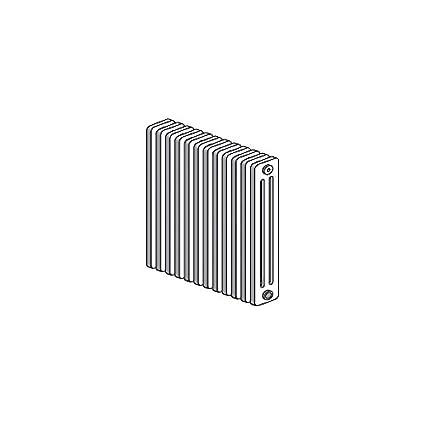 Radiador tubular acero agua caliente blanco Horizontal 3 columnas h750 mm L900 mm calefacción Central 1429 W Delta H Radson S1 - 3075/18: Amazon.es: ...
