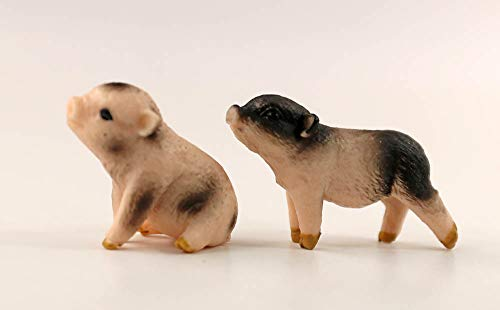 - nanguawu 1/12 Dollhouse Miniature Animal Pet Pig Piggy Toy 2pcs