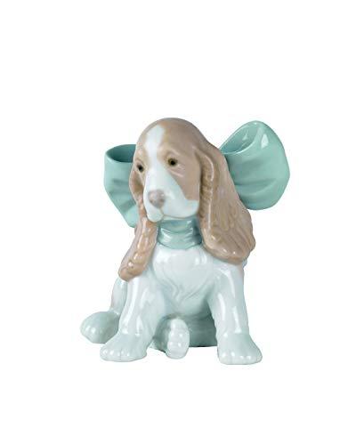 NAO Puppy Present Porcelain Figurine