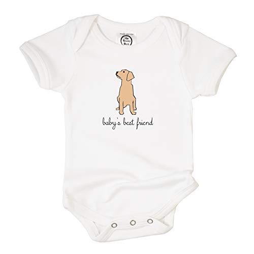 The Spunky Stork Baby's Best Friend Organic Cotton Baby Bodysuit (0-3M) ()