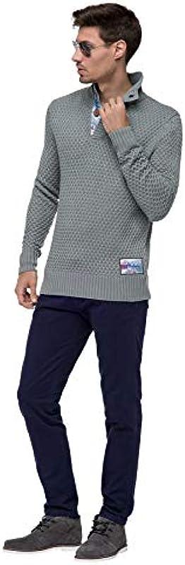 Nebulus T401 - sweter z kołnierzem w kształcie litery V, sweter, bluza: Odzież