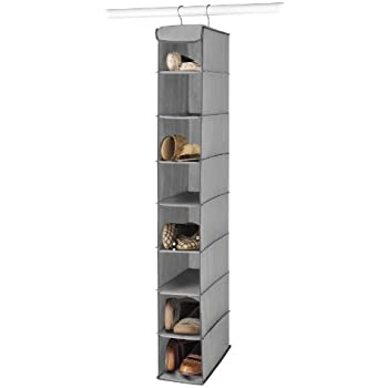 Amazing Whitmor Hanging Shoe Shelves Grey, 8 Open Shelves