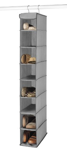 Hanging Shoe Shelves-Grey, 8 Shelves