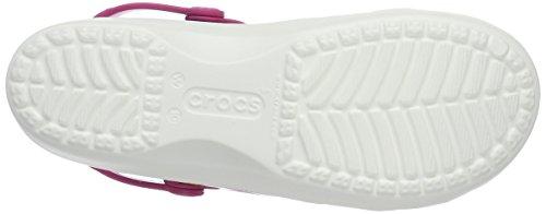 crocs Karin W, Damen Clogs Weiß (White/Floral)