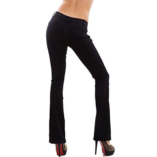 Campana Nero Donna Nuovi Elasticizzati Pantaloni Toocool Jeans Af108 Skinny Zampa Elefante 0wvn4qx