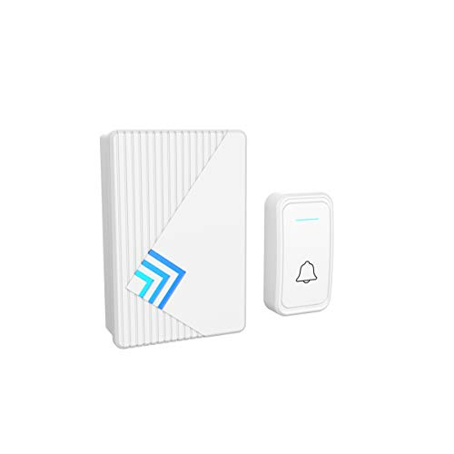 Electronic Operated - Stalwart A200031 Doorbell – Wireless Electronic Battery Operated Alert System with LED Indicator, 80 Meter Range, 38 Chimes and 3 Volume Control Settings