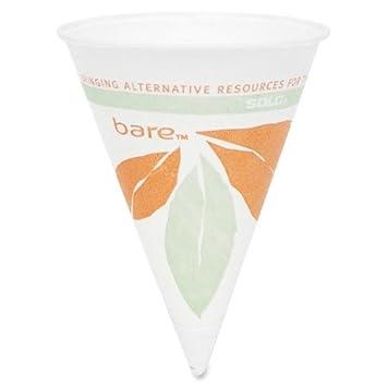 Solo Bare seco papel de cera taza – 4 oz – 200/Pack – Blanco