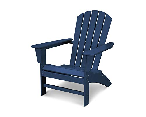 (POLYWOOD Nautical Adirondack Chair, Navy)