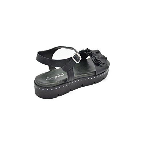 Mujer Negro Zapatos EU753AW1801 Correa drudd con 6Fqqpd