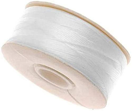 NYMO White Nylon Beading Thread Size B for Delica Beads 66 Metres (72 Yards)