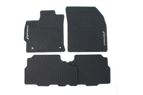 Genuine Toyota Accessories PT908-47120-20 Front and Rear All-Weather Floor Mat (Black), Set of 4