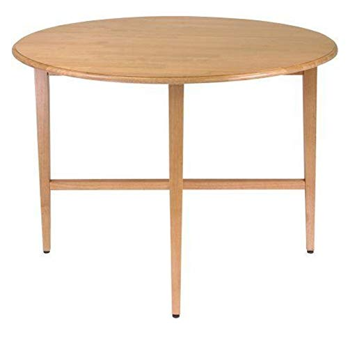 KornKan Round Drop Leaf Table Folding Dining Kitchen Space Save Furniture Great 42 Inch
