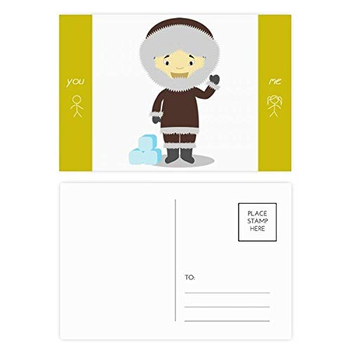 Cold Jacket Greenland Cartoon Friend Postcard Set Thanks Card Mailing Side 20pcs