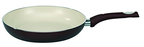 ELO Pure Aubergine Kitchen Induction Cookware Frying Pan with Thermoceramica Non-Stick Scratch Resistant Coating, 12.5-inch