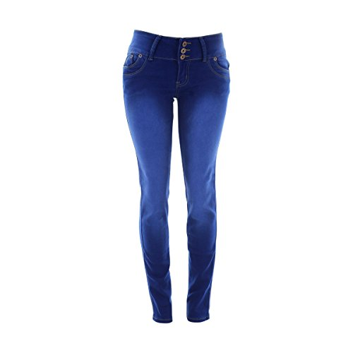 2365eeb86b hot sale Tush Push - Women s 3 Button Rivets Back Pocket Jeans - Royal