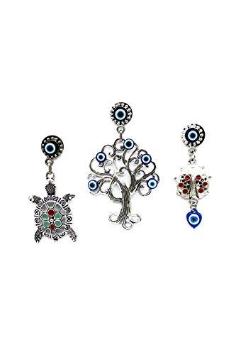 EA Gift Global Turkish Glass Blue Evil Eye Bead (Nazar) Turtle, Tree Life Ladybug Desing Quality Fridge WhiteBoard Dishwasher Refrigerator Magnets Great Gift (Alternative 2)
