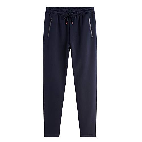 Cebbay Pantalones Casuales de los Hombres Liquidación Además de Terciopelo Grueso otoño Pantalones Pantalones Harem de Bolsillo Slim fit con Cremallera: ...