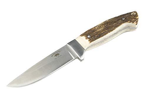 ED MAHONY USA, Professional Hunting Knife Pathfinder G10 with Orange Handle, 440C
