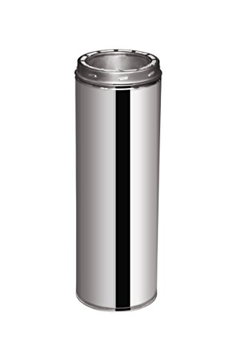 EcoVent USA Double Wall Stainless Steel Chimney Pipe 6-Inch X (Wall Chimney Pipe)