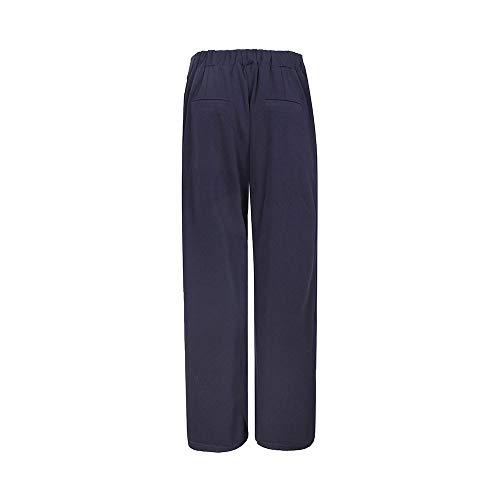 Blu Zhrui Donna Pantaloni Larghi Estivi Casual Pantaloni YY4qfr