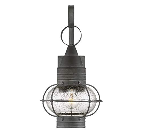 Savoy House 5-221-88 Enfield Outdoor Wall Lantern in Oxidized Black ()