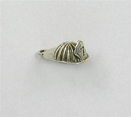Sterling Silver 3-D Firefighters Hat Charm ()