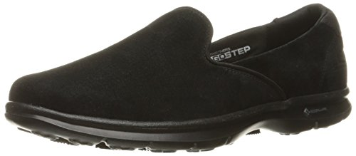 Skechers Performance Women's Go Step Cheery Walking Shoe, Black Suede, 8.5 M US