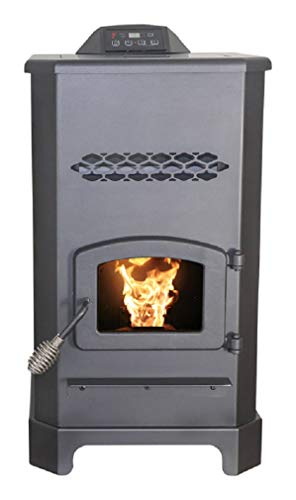 Us Stove Ap5501s Ashley Pellet Stove, Steel, Black, 48000 Bt