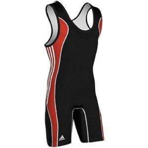 Adidas T8 Wrestling Singlet - black/scarlet - T8 Singlet Wrestling Adidas
