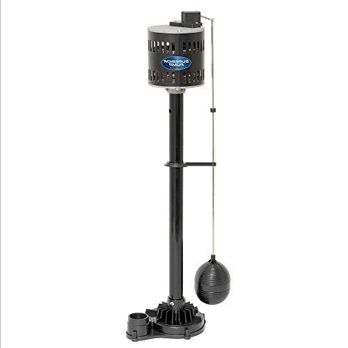 1/2 Horsepower Thermoplastic Steel Pedestal Sump Black