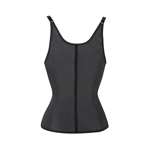 72cf5e1c4c1 Black 6 Steel Boned Latex Waist Trainer Vest Body Shapewear - Import It All