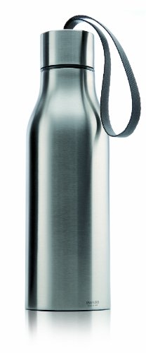 Eva Solo Thermo Water Bottle with Strap, Brushed Stainless Steel, 1/2-Liter by eva solo