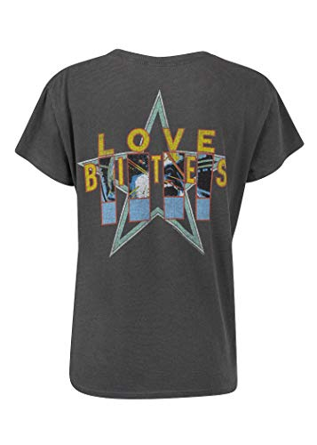 (Junk Food Womens DEF Leppard Love Bites Vintage Look T-Shirt Band Tee Size)