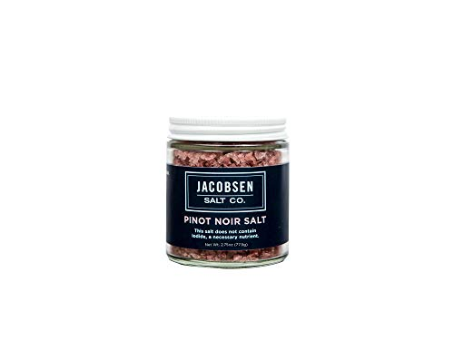 Jacobsen Salt Co. Specialty Sea Salt for Fancy Gourmet Cooking, Infused Sea Salt, Pinot Noir Flavored, 3.5 Ounces (Wine Kosher Merlot)
