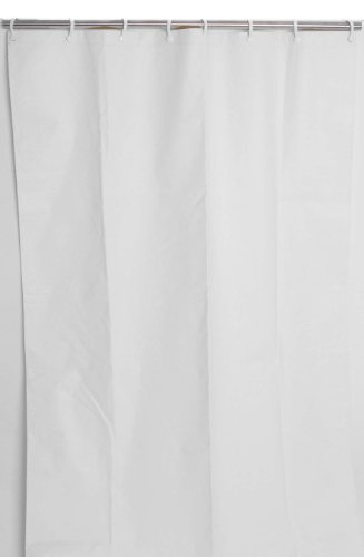 Commercial Curtain - CSI Bathware CUR42x72NH Heavy-Duty Commercial Shower Curtain Antistatic Staph Resistant Mold and Odor Resistant, White