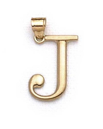 "14 Carats Pendentif initiale J 1 3/8 ""longue JewelryWeb"