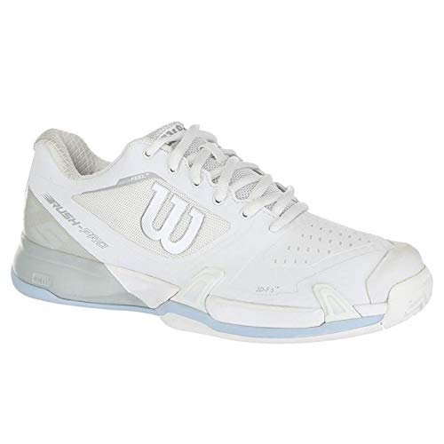(Wilson Womens Rush Pro 2.5 Tennis Shoes, White/Pearl Blue/Cashmere Blue (Size 8))