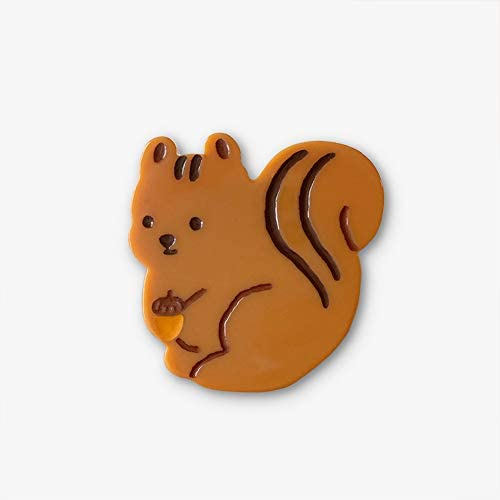 MILL AND MOI Cute Squirrel Design Expandable Phone Grip   Handle Smartphone and Tablets with pop Out Finger Holder   Collapsible Grip and Adjustable Stand   Love Kawaii Anime Animal Face Brown