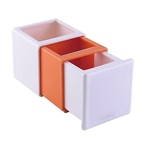 Organizer per documenti da scrivania in similpelle formato A4 colore: Grigio EHC con 8 scomparti