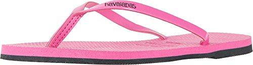 Havaianas Women's You Metallic Flip Flops Shocking Pink 35-36 M Bra (Havaianas Pink)