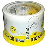 Maxell CD-R Recordable 700MB 80min 52x bedruckbar 50er Pack Spindel