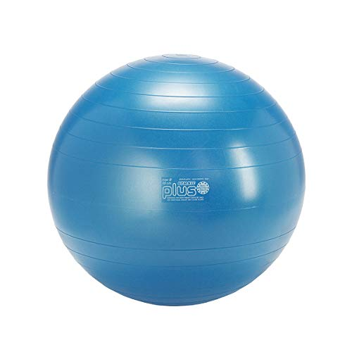 Gymnic Classic Plus Burst-Resistant Exercise Ball, Blue (65 cm)